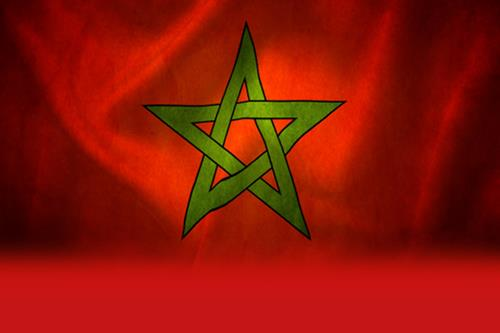Animated impression of flag of Morocco