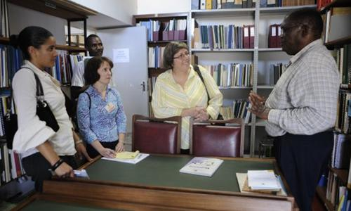 MDC library staff in Mozambique