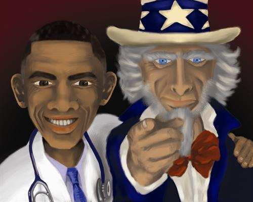 Obama Care Political Cartoon