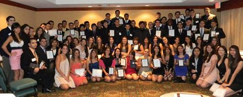 MDC students holding awards