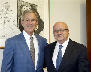 Former U.S. President George W. Bush and Dr. Padrón