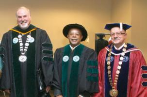 Dr. Ronald Berkman, Dr. Henry Louis Gates Jr. and Dr. Padrón