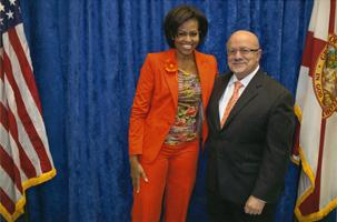 Dr. Padrón with Michelle Obama