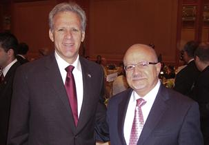 Dr. Padrón with Michael Oren