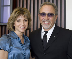 MDC Chair Helen Aguirre Ferré and entertainment mogul and alumnus Emilio Estefan