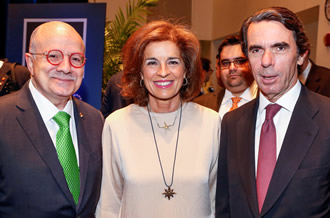 President Padrón, former Mayor of Madrid Ana Botella Serrano and her husband, former Prime Minister of Spain José María Aznar
