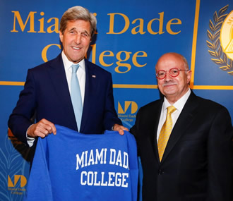 U.S. Secretary of State John Kerry and President Padrón