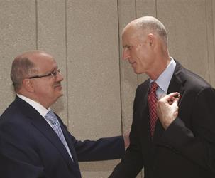 President Padrón with Gov. Rick Scott
