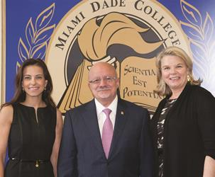 Dina Habib Powell, President Padrón and Margaret Spellings