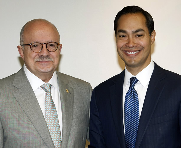 President Padrón with U.S. Secretary of Housing and Urban Development Julian Castro during a recent visit to MDC
