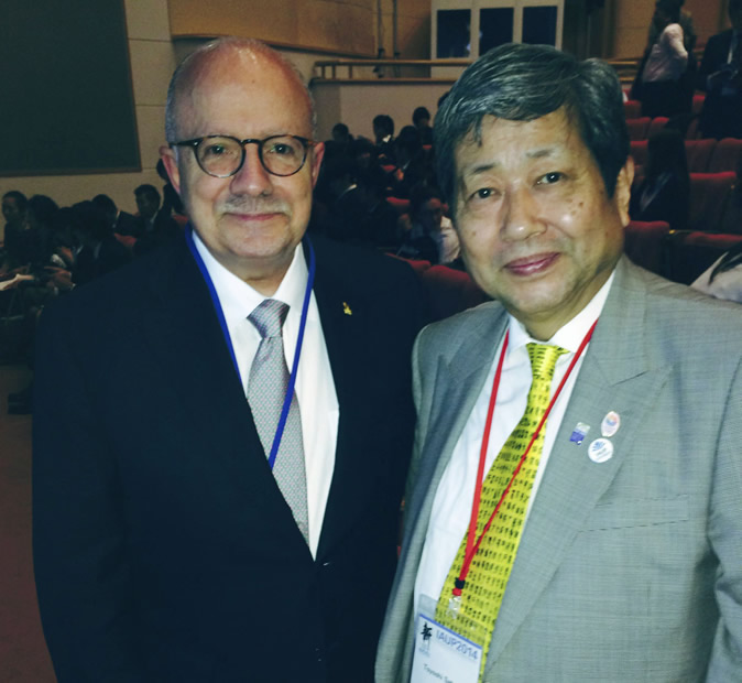 President Padrón and Dr. Toyoshi Satow, chancellor of J.F. Oberlin University (Japan), and president of the International Association of University Presidents