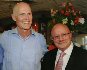 Dr. Padrón with Governor Scott