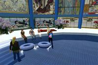 Faculty members gather in Second Life