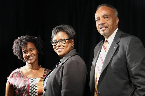 Stephanie Van Vark, H. Leigh Toney and Clifton Taulbert