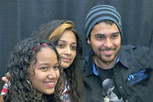 Wilmer Valderrama and students