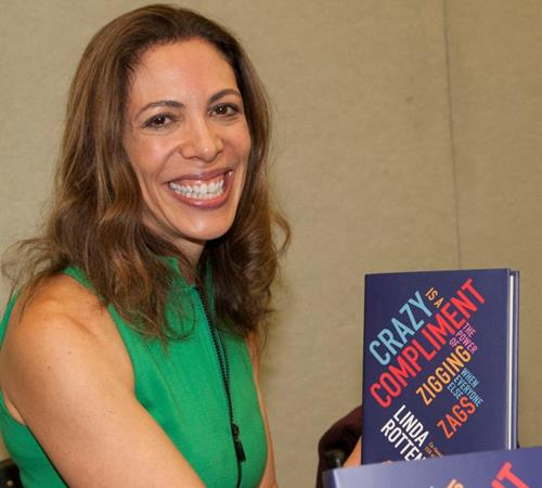 Linda Rottenberg with her book