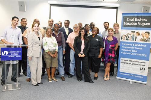 Small business workshop attendees