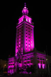 MDC's Freedom Tower lit pink for Breast Cancer Awareness Month