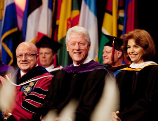 President Clinton at commencement