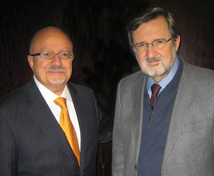 Doctor Eduardo Padron and US Congressman Dave Obey