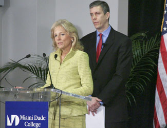 Dr. Jill Biden and U.S. Education Secretary Arne Duncan