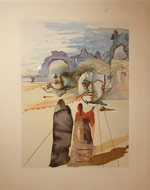 Salvador Dali, The Divine Comedy, Canto 20, xylography, 1959