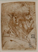 Leonardo da Vinci, Profile of an old man, brown pen and brown ink, 1452