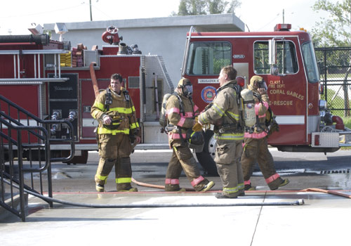 Students in MDC's Fire Academy