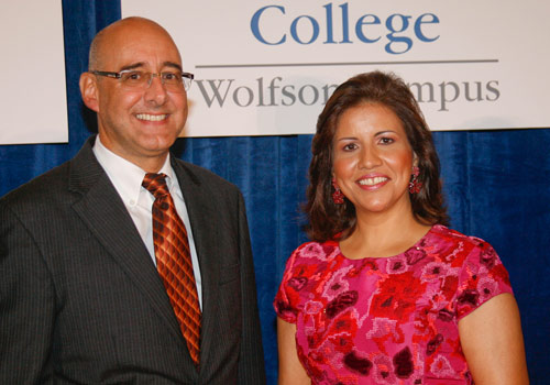 MDC Provost Dr. Rolando Montoya and Dr. Margarita Cedeño de Fernández, first lady of the Dominican Republic