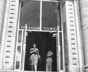 Freedom Tower entrance, June 29, 1962