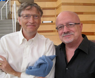 Bill Gates, co-chair of the Bill and Melinda Gates Foundation, with MDC President Padrón