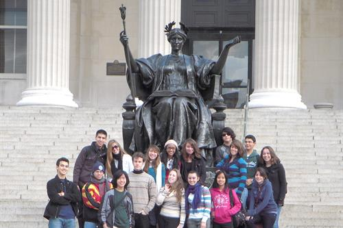 SAS students at Columbia