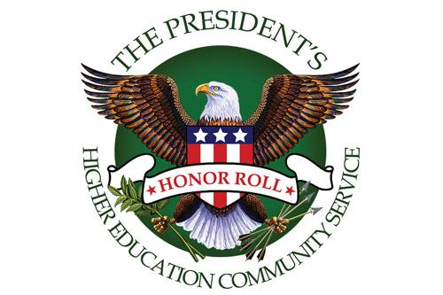 President's Honor Roll for Higher Education Community Service logo