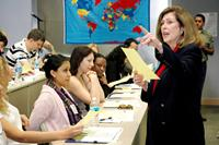 MDC English Professor Maureen O'Hara directs the annual Fulbright Gateway Orientation