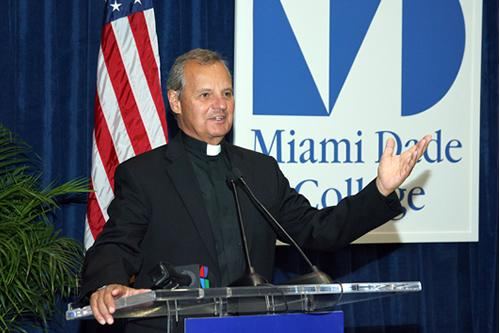 St. Thomas University President Monsignor Franklyn M. Casale