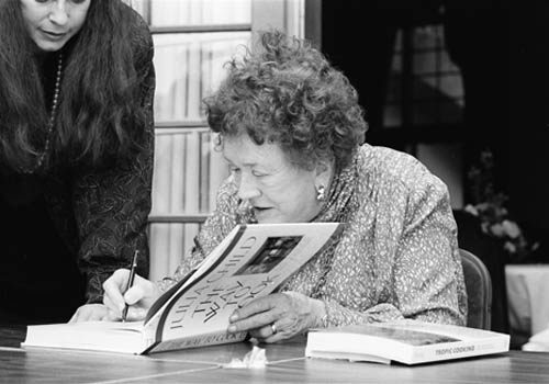 Julia Child signs her book at Miami Book Fair International in 1989