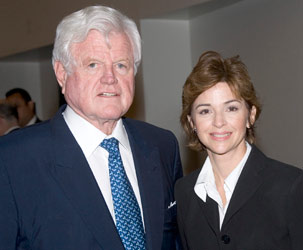 "Sen. Edward ""Ted"" Kennedy and MDC Board Chair Helen Aguirre Ferré"
