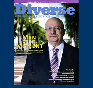 Dr. Padrón on the cover of 'Diverse' magazine.