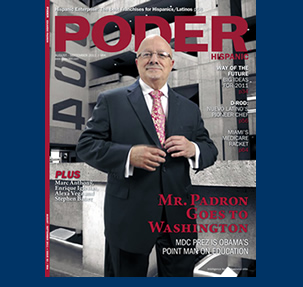 Dr. Padrón on the cover of 'Poder Hispanic' magazine