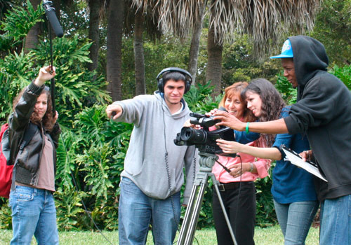 MDC film crew at work on location