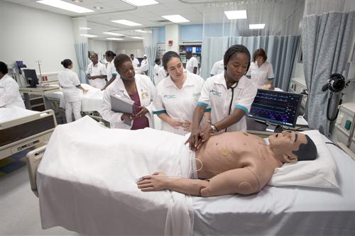 Nursing students in training