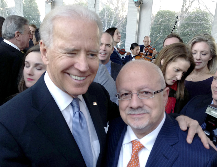 Joe Biden and President Padrón
