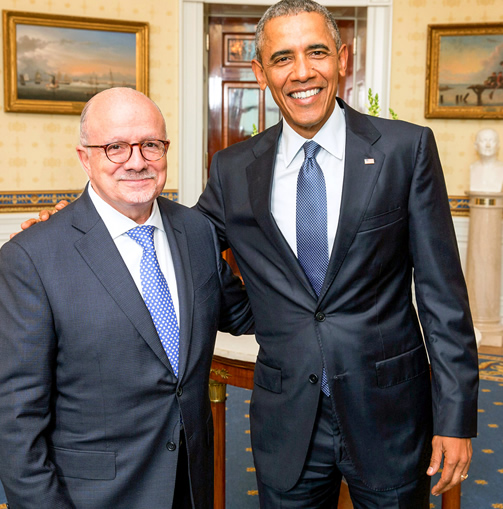 President Padrón with U.S. President Barack Obama at the White House
