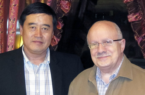 Dr. Shenghe Lu and President Padrón