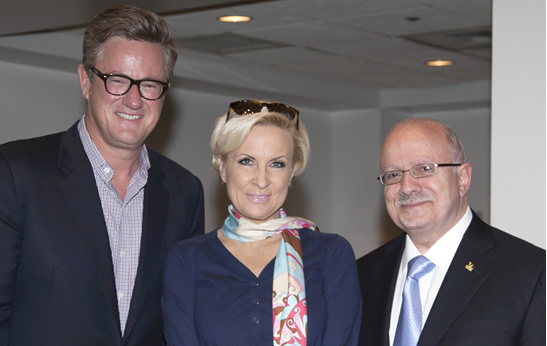 Joe Scarborough, Mika Brzezinski and President Padrón