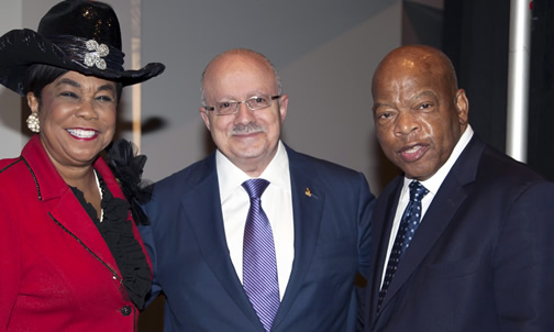 Frederica Wilson, President Padrón and John Lewis