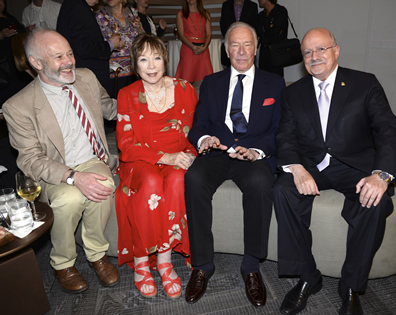 Michael Radford, Shirley MacLaine, Christopher Plummer and President Padrón