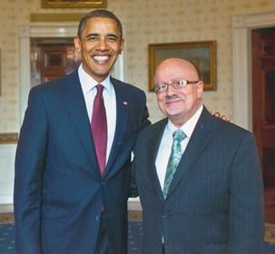 U.S. President Barack Obama and Dr. Padrón