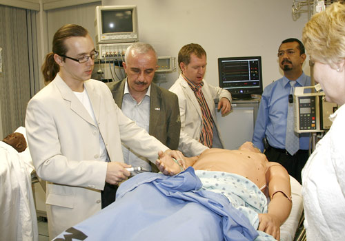 Russian physicians in the simulated patient laboratory