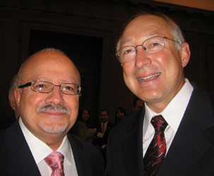 Doctor Eduardo Padron and Ken Salazar